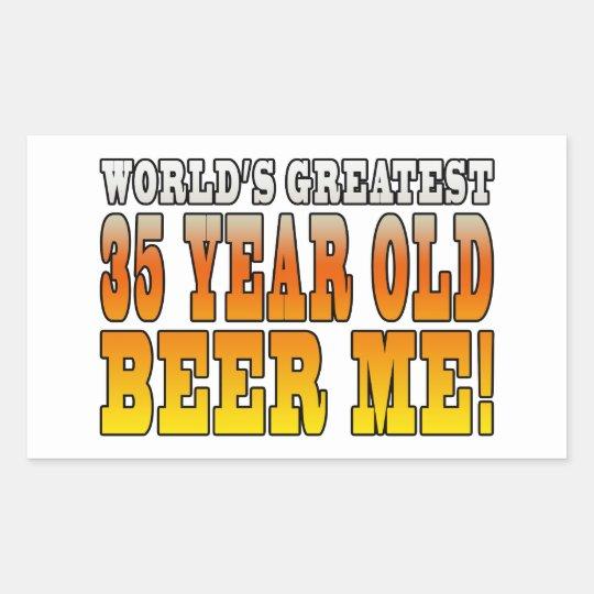 Funny 35th Birthdays : Worlds Greatest 35 Year Old Rectangular Sticker