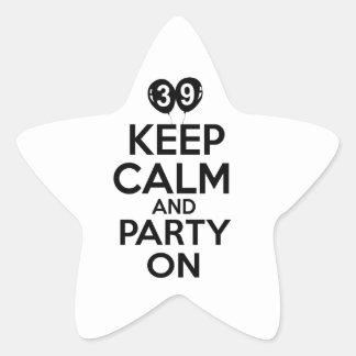 Funny 39 year old designs star sticker
