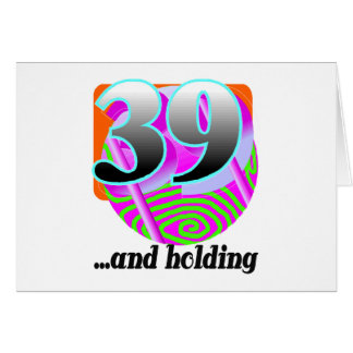 Funny 39th Birthday Gift Card