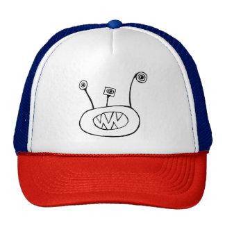 Funny 3 eyed monster trucker hat