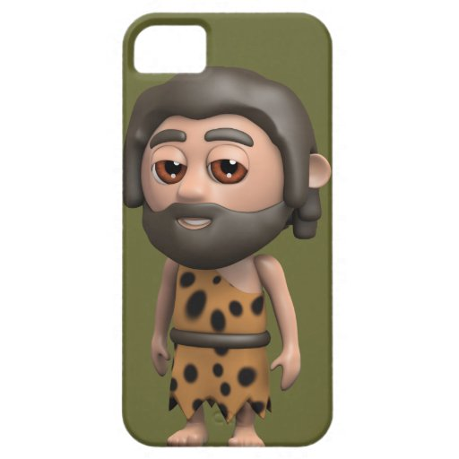 Funny 3d Caveman (editable) iPhone 5 Cover