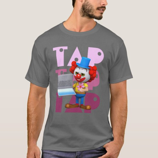 Funny 3d Clown Laptop computer T-Shirt