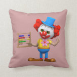Funny 3d Clown with Abacus (editable) Pillow