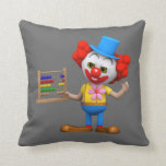 Funny 3d Clown with Abacus (editable) Pillows
