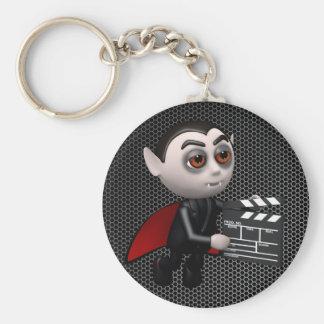 Funny 3d Dracula Vampire Movie Basic Round Button Keychain
