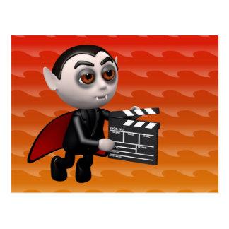Funny 3d Dracula Vampire Movie Postcard