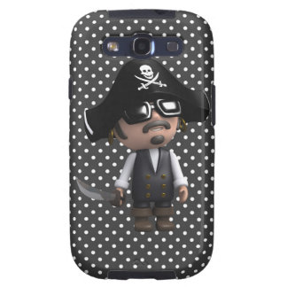 Funny 3d Pirate in sunglasses (editable) Galaxy S3 Covers