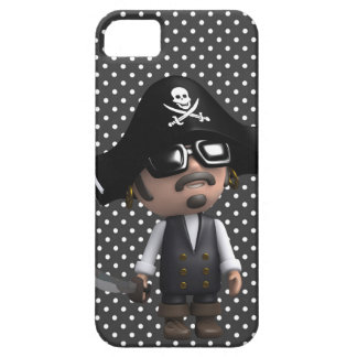 Funny 3d Pirate in sunglasses (editable) iPhone 5 Cases