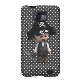 Funny 3d Pirate in sunglasses (editable) Samsung Galaxy SII Case