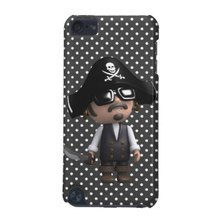 Funny 3d Pirate in sunglasses (editable) iPod Touch (5th Generation) Cases
