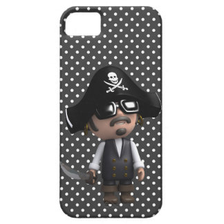 Funny 3d Pirate in sunglasses (editable) iPhone 5 Covers