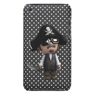 Funny 3d Pirate in sunglasses (editable) Barely There iPod Cover