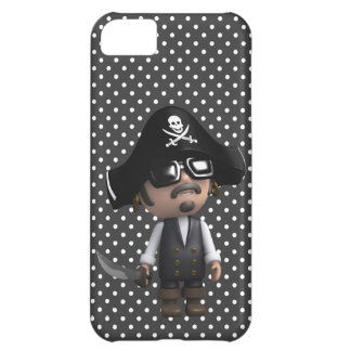 Funny 3d Pirate in sunglasses (editable) iPhone 5C Cases
