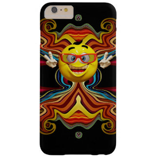 Funny 3d smiley  with peace sign iphone case