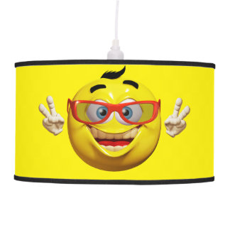 Funny 3d smiley  with peace sign Lamp