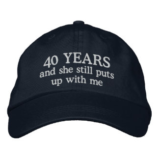 Funny 40th Anniversary Husband Hat Gift Cap