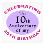 Funny 40th Birthday Gag Gifts Custom Invitation