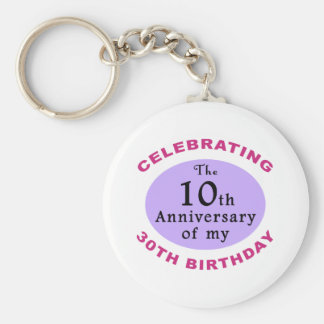 Funny 40th Birthday Gag Gifts Keychain