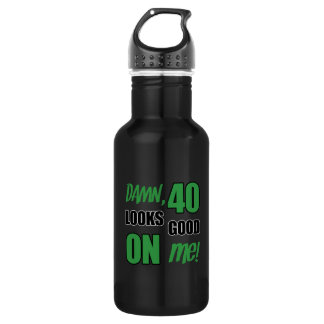Funny 40th Birthday Gag Stainless Steel Water Bottle