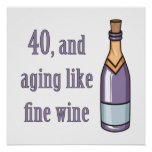 Funny 40th Birthday Gift Ideas Posters