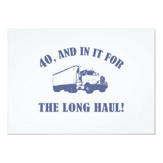 "Funny 40th Birthday Gift 5"" X 7"" Invitation Card"