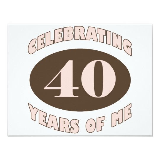 Funny 40th Birthday Gifts Card
