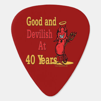 Funny 40th Birthday Gifts Guitar Pick