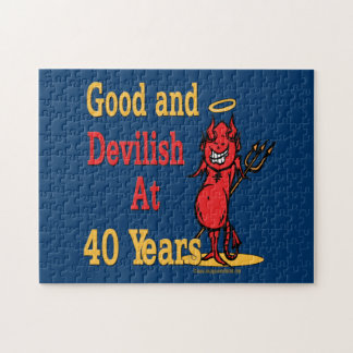 Funny 40th Birthday Gifts Jigsaw Puzzle