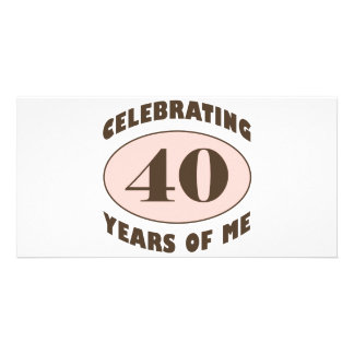 Funny 40th Birthday Gifts Photo Card