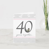 Funny 40th ruby anniversary card for husband/ wife