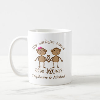 Funny 40th Wedding Anniversary His Hers Mugs