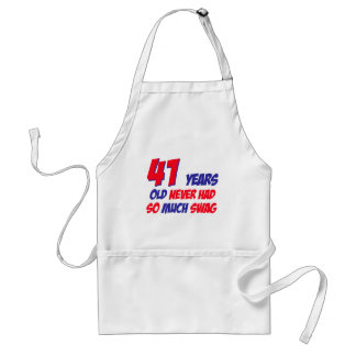 funny 41 years birthday adult apron