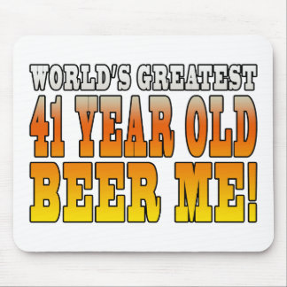 Funny 41st Birthdays : Worlds Greatest 41 Year Old Mouse Pad