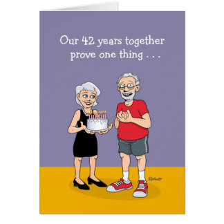 Funny 42nd Anniversary Card