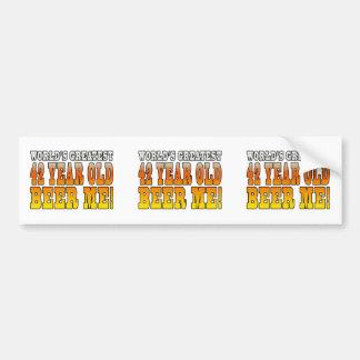 Funny 42nd Birthdays : Worlds Greatest 42 Year Old Bumper Sticker