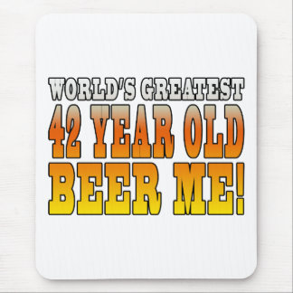 Funny 42nd Birthdays : Worlds Greatest 42 Year Old Mouse Pad