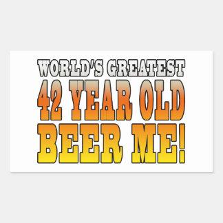 Funny 42nd Birthdays : Worlds Greatest 42 Year Old Rectangular Sticker