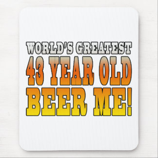 Funny 43rd Birthdays : Worlds Greatest 43 Year Old Mouse Pad