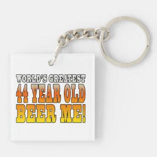 Funny 44th Birthdays : Worlds Greatest 44 Year Old Keychain