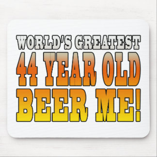 Funny 44th Birthdays : Worlds Greatest 44 Year Old Mouse Pad