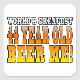 Funny 44th Birthdays : Worlds Greatest 44 Year Old Square Sticker