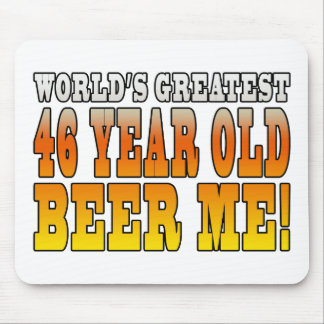 Funny 46th Birthdays : Worlds Greatest 46 Year Old Mouse Pad