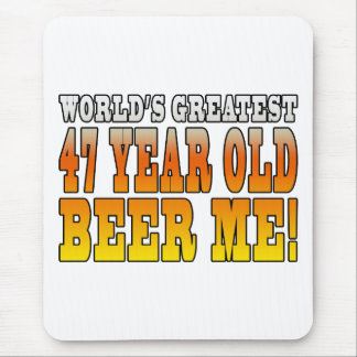 Funny 47th Birthdays : Worlds Greatest 47 Year Old Mouse Pad