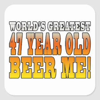 Funny 47th Birthdays : Worlds Greatest 47 Year Old Square Sticker