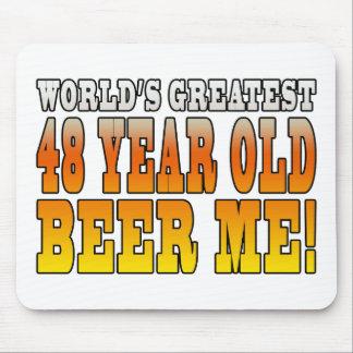 Funny 48th Birthdays : Worlds Greatest 48 Year Old Mouse Pad