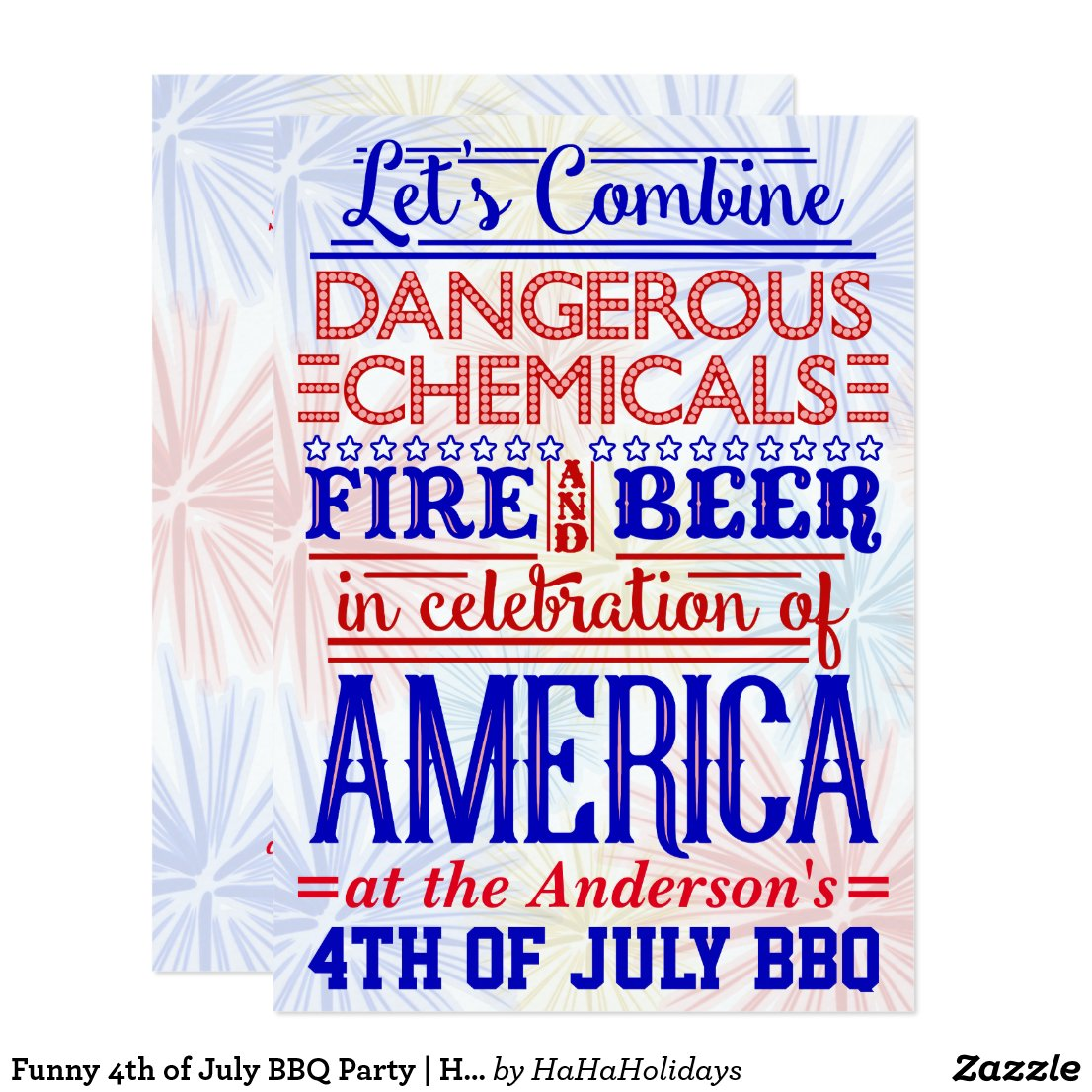 Funny 4th of July BBQ Party | Humorous Barbecue Card