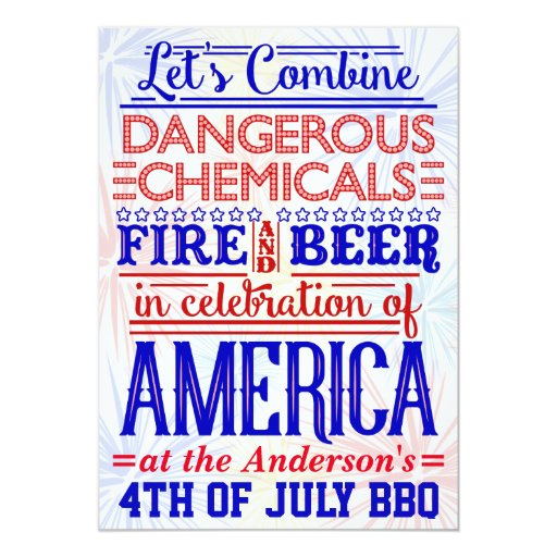funny 4th of july bbq party humorous barbecue card zazzle