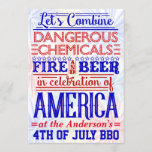 Funny 4th of July BBQ Party | Humorous Barbecue Invitation
