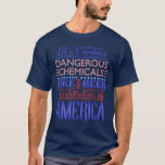 Funny 4th of July Independence Beer Fireworks Dark T-Shirt