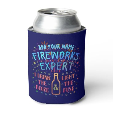 USA Themed Funny 4th of July Independence Fireworks Expert V2 Can Cooler
